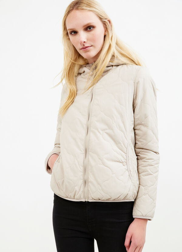 Jacket with faux fur lining | OVS