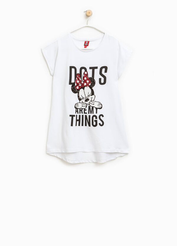 T-shirt paillettes e stampa Minnie   OVS