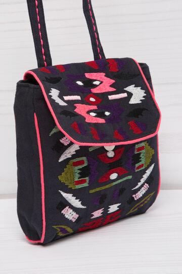 Patterned shoulder bag, Natural, hi-res