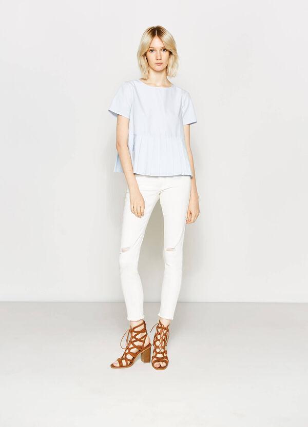 Pleated cotton blouse | OVS