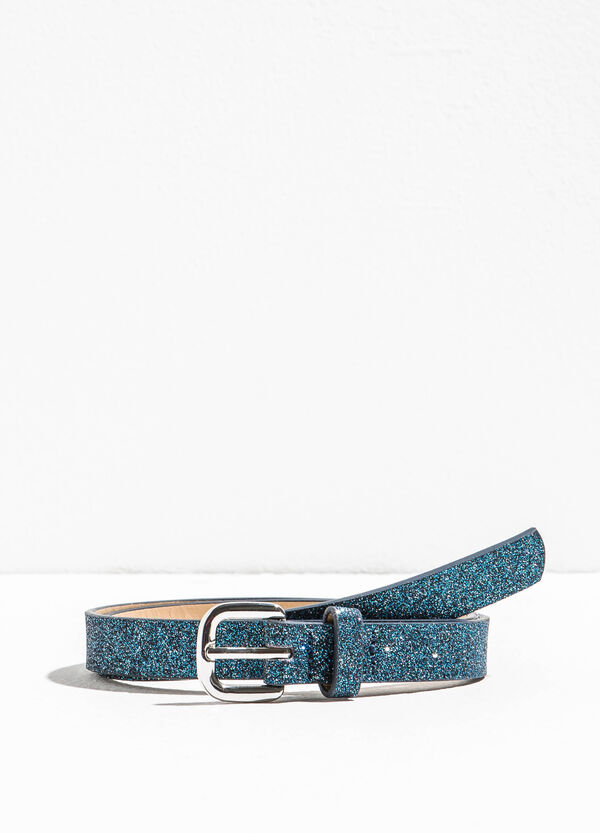 Glitter belt with polished buckle | OVS