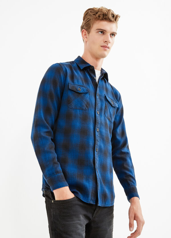 Check cotton casual shirt | OVS