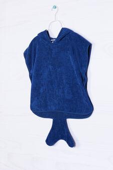Accappatoio mantella puro cotone, Blu navy, hi-res