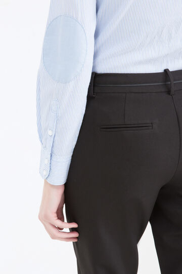 Elegant stretch trousers, Black, hi-res