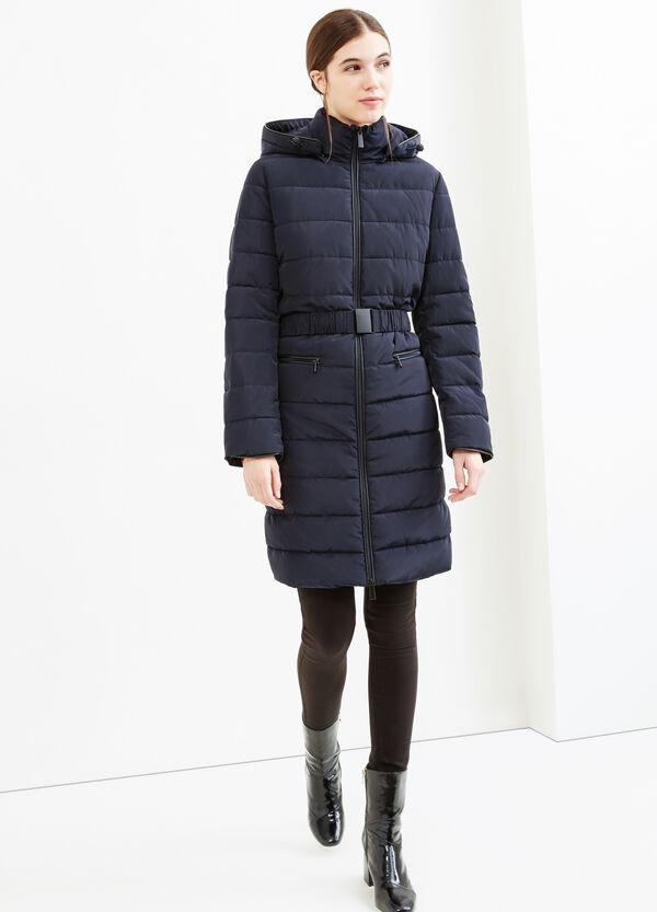 Jacket with hood and belt | OVS