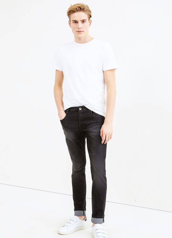 Jeans stretch used con scoloriture | OVS