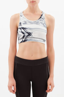 Stretch sports top, White/Black, hi-res