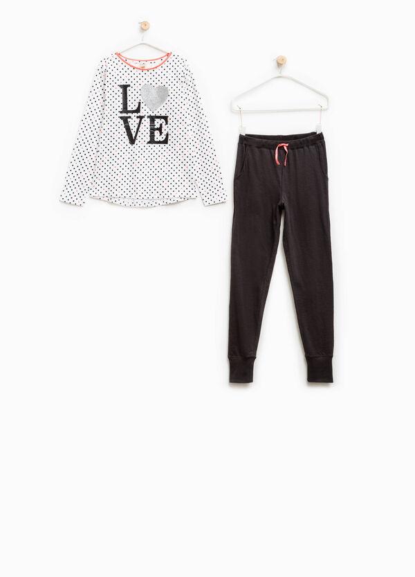 Cotton pyjamas with all-over polka dot print | OVS