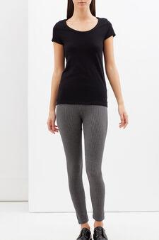Stretch leggings, Black/Grey, hi-res