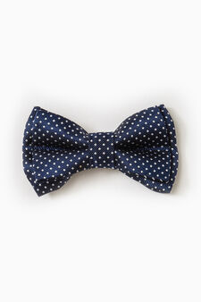 Bowtie embroidered in contrasting colours, Blue, hi-res