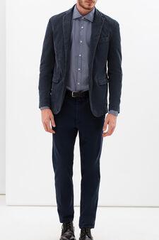Rumford patterned shirt, Dark Blue, hi-res