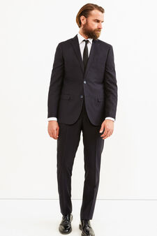 Elegant suit with regular fit, Dark Blue, hi-res