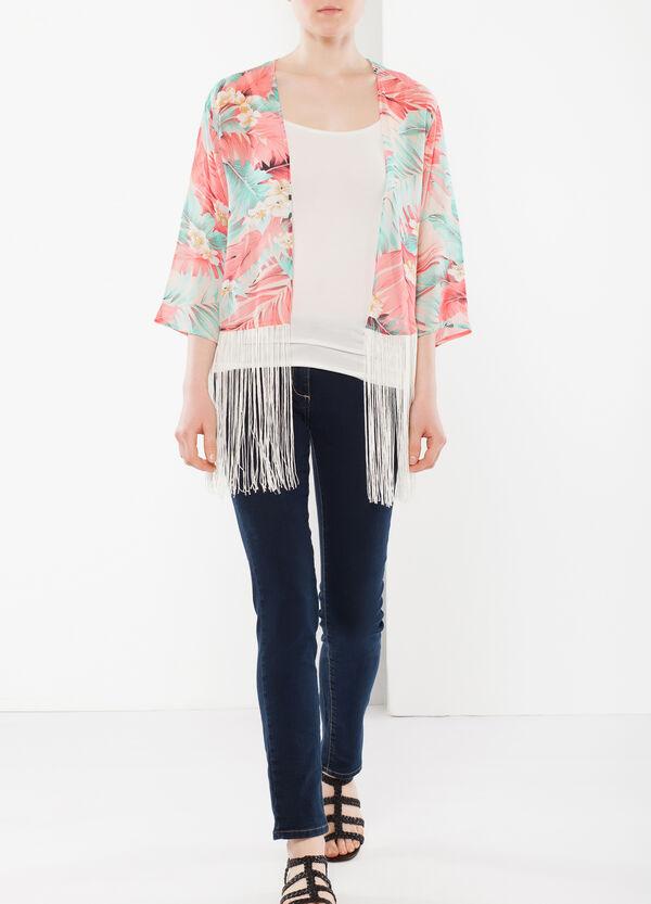 Kimono jacket with fringe | OVS
