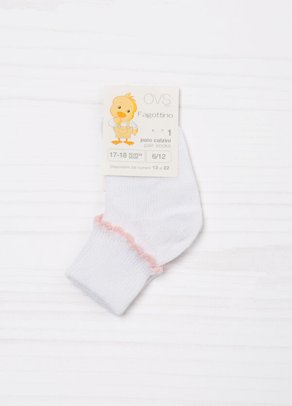 Short socks with insert in contrasting colour | OVS
