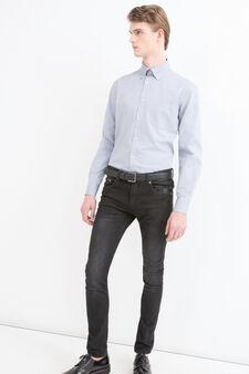 Camicia regular fit con taschino, Blu chiaro, hi-res