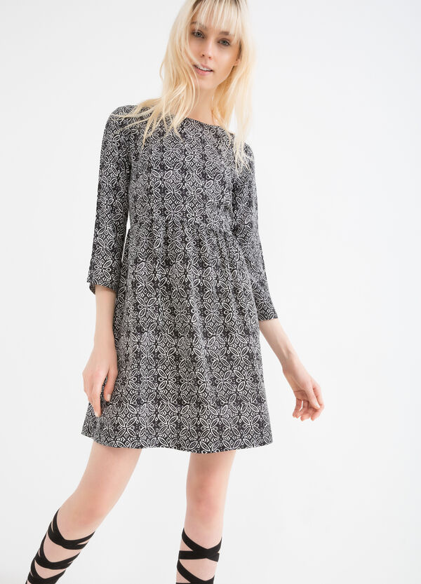 100% viscose dress with print | OVS