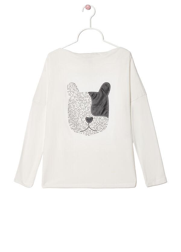 Viscose blend diamanté T-shirt | OVS