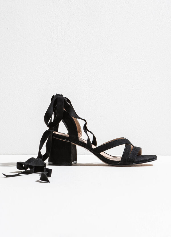 Sandals with criss-cross upper | OVS