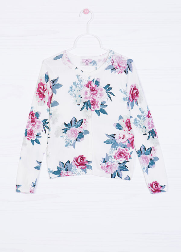 Viscose cardigan with floral print   OVS