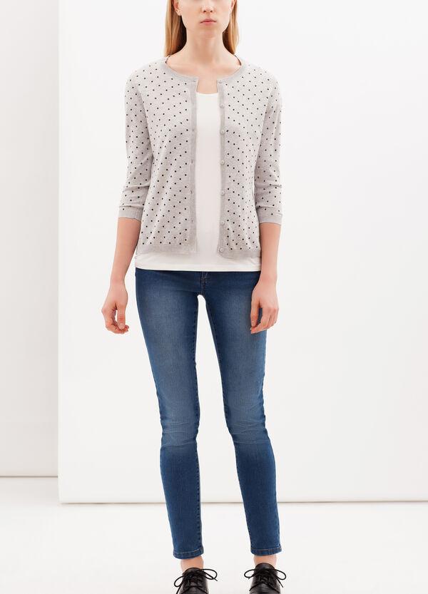 100% cotton polka dot cardigan | OVS