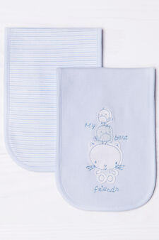 Two-pack cotton towels, Light Blue, hi-res