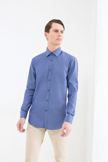 Regular-fit shirt in cotton, Blue, hi-res