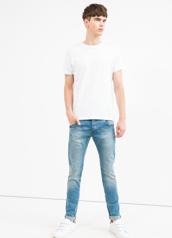 Slim fit jeans with turned-up ankles | OVS