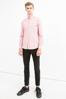 Regular-fit casual shirt with button down collar, Pink, hi-res