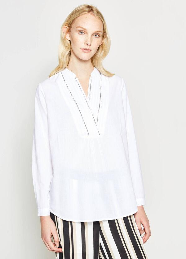 Blusa con escote de pico amplio | OVS