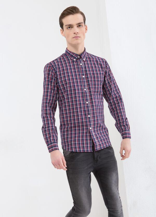 Camicia cotone tartan con taschino | OVS