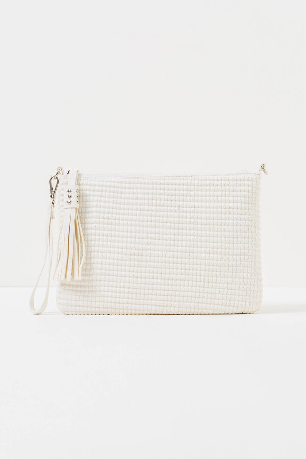 Solid colour clutch bag with strap | OVS