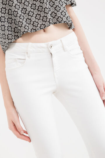 Jeans skinny fit stretch cuciture a tono, Bianco latte, hi-res