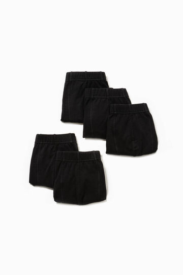 Five-pack solid colour stretch boxer shorts