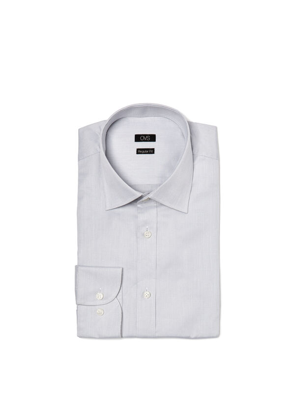 Camicia regular fit in dobby | OVS