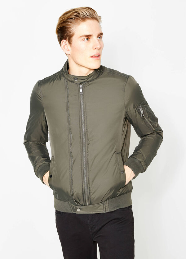 Solid colour bomber jacket with pockets | OVS