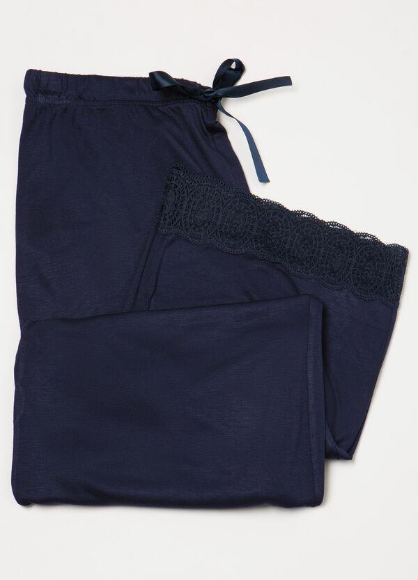 Viscose and lace pyjama trousers | OVS