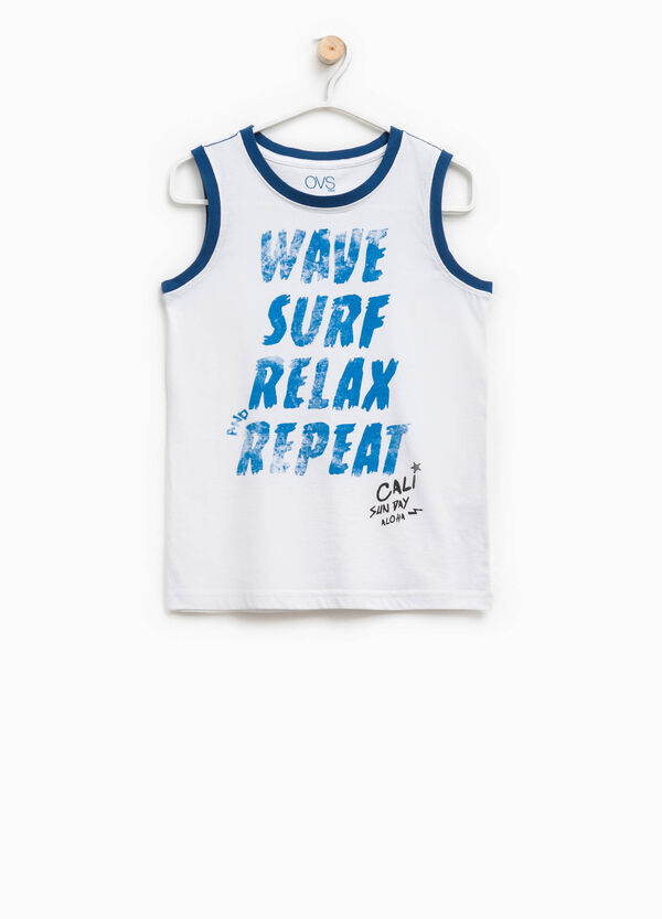 Vest in cotton with print | OVS