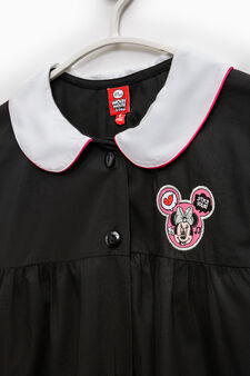 Solid colour apron with Minnie Mouse patch, Black, hi-res