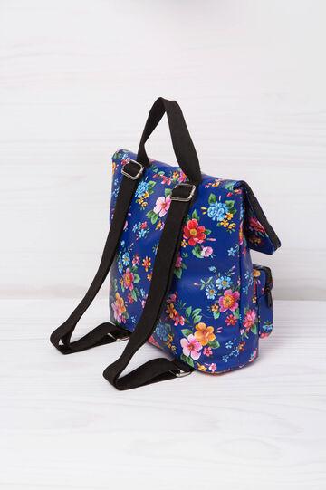 Zainetto con stampa floreale, Blu, hi-res