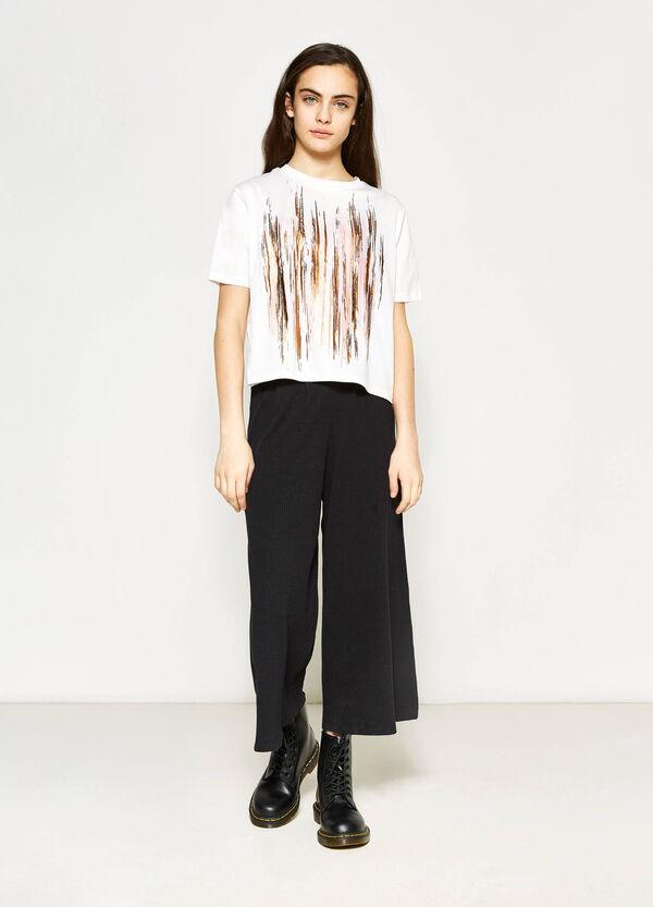 Camiseta de algodón con estampado Teen | OVS