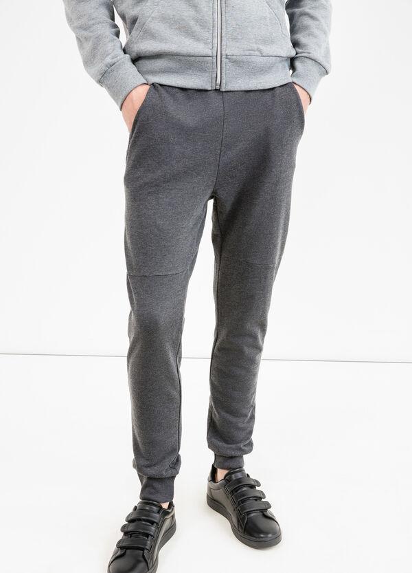 Pantaloni tuta puro cotone tinta unita | OVS