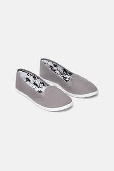 Canvas slip-on shoes, Grey, hi-res