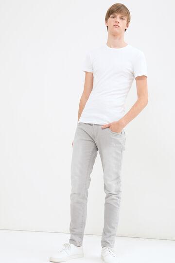 Jeans skinny cuciture tono su tono, Bianco ghiaccio, hi-res