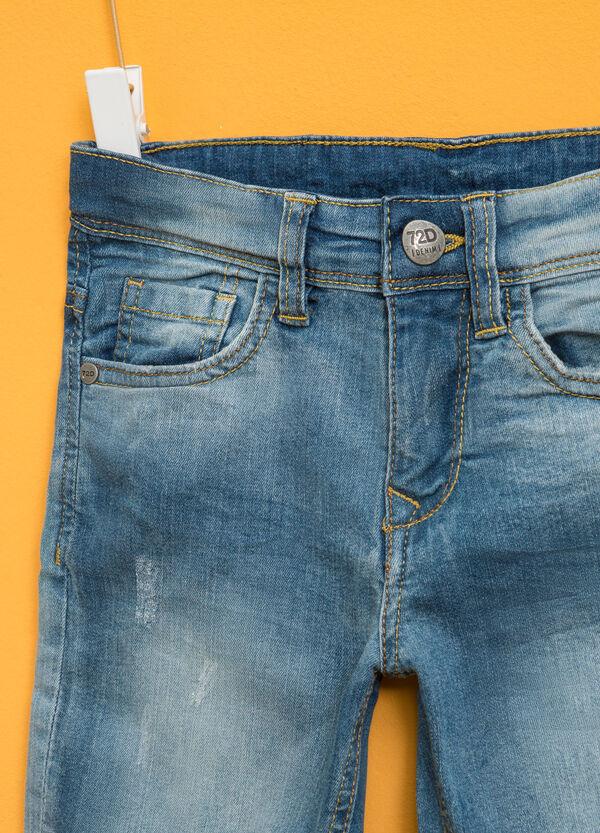 Washed-effect stretch denim Bermuda shorts | OVS