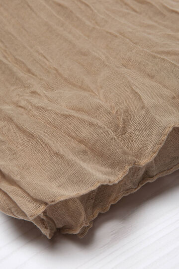 Crumpled effect fabric., Beige Brown, hi-res
