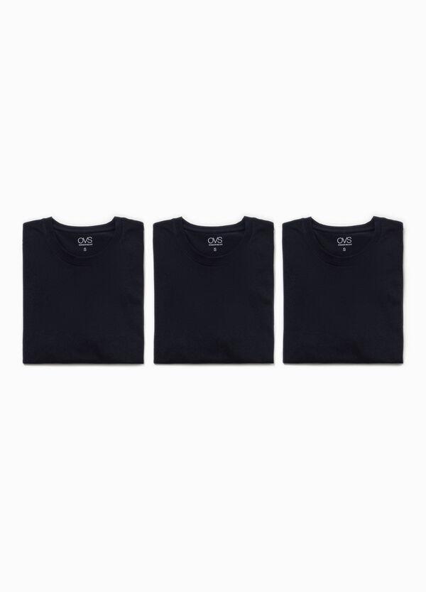 Three-pack undershirts with round neck | OVS