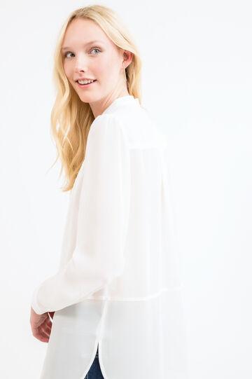Shirt with Mandarin collar, Off-white, hi-res