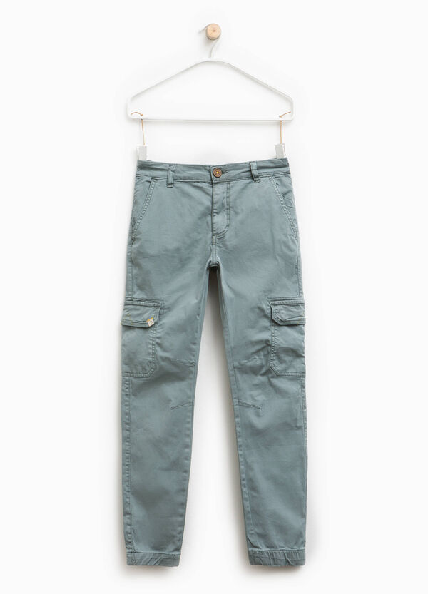 Stretch cotton cargo trousers | OVS