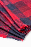Check pattern scarf, Blue/Red, hi-res