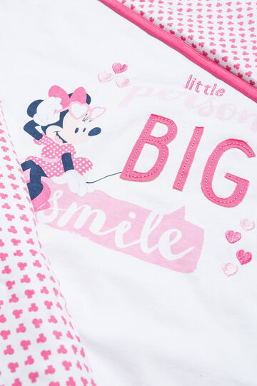 Blanket with Minnie Mouse print, White/Pink, hi-res